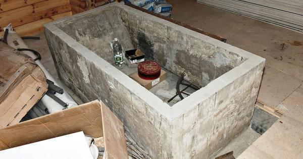 Ванна из бетона из бетона