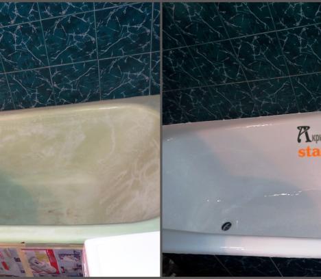 Реставрация ванны в Тернополе